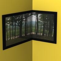 3d corner painting