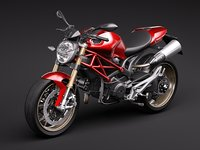 ducati monster 1100s 2009 3d lwo