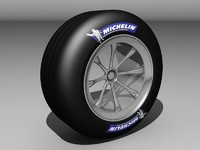 f1 car tyre with rim