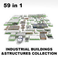 industrial commercial buildings structures 3d model