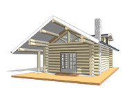 revit log-house rvt