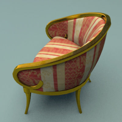 3ds max classic chair - Armchair 050 Blueberry... by 3DMarko