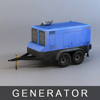 3d model diesel generator
