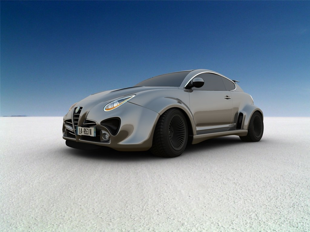 3d alfa romeo mito tuning. Black Bedroom Furniture Sets. Home Design Ideas