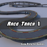 Low Polygon Race Track 1