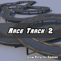 Low Polygon Race Track 2