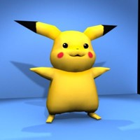 Pikachu Low Poly Model