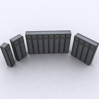 3d metal lockers model