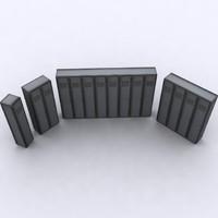 3d metal lockers model