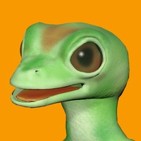 3d model gecko lizard