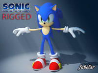 sonic hedgeog skin 3d model