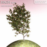 3d tree high-poly billboard model