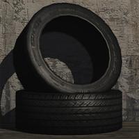 3d car tyre prop model