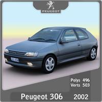 2002 peugeot 306 3d model