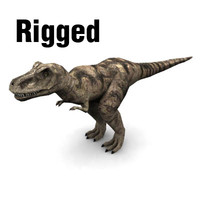 3ds trex rigged