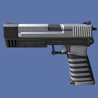 3d model futuristic gun