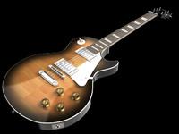 lespaul gibson guitar 3d max