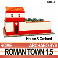Roman Town: House & Orchard 1.5 [Low Poly]