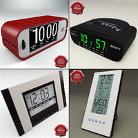 3d clocks digital radio