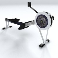3d model gym equipment rowing machine