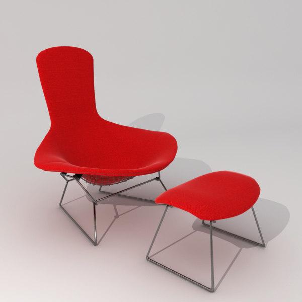 Harry bertoia bird chair furniture 3d max