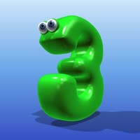 cute cartoon number 3d max