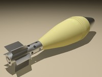 3d model mortar 88 mm