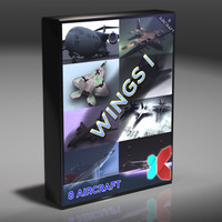 8 modern military aircraft 3d xsi