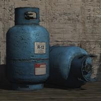 3d gas cylinder prop