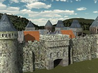 Medieval city modular fortifications