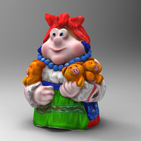 3ds max pig woman