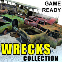 ready wrecked car bus 3ds