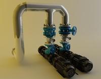 3d model pump motor
