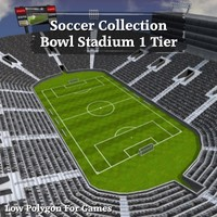 Soccer Collection Bowl Stadium 1 Tier