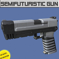 gun modeled 3d max