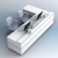 3D Reception Desk 03