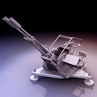 3d zu-23-2 23mm anti-aircraft gun model