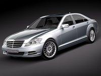 3d mercedes s class s-class model