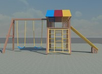 3d model play ground set