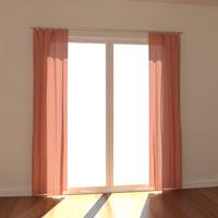 3dsmax windows curtain