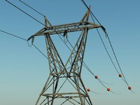 3d model high-voltage tower