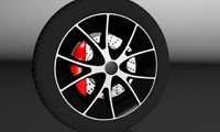 3d 2010 wheel tire model
