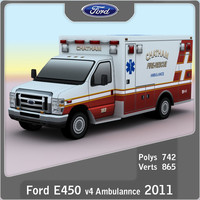 Ford E-450 Ambulance v4