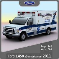 Ford E-450 Ambulance v3
