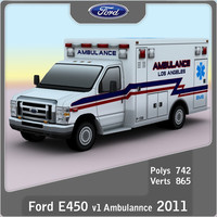 e-450 ambulance games 3d model