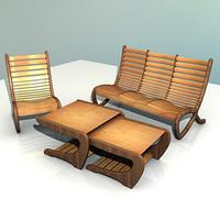 3d kit armchair sofa table