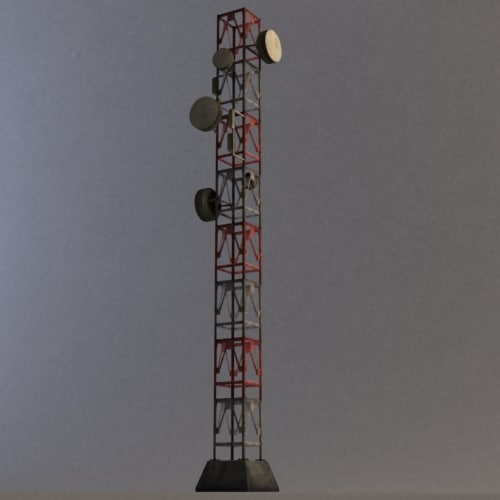 radio tower modular 3d max - Modular Radio Tower... by Henry600