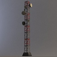 radio tower modular 3d max