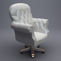 3d armchair interior model