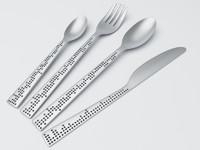 3d model silverware design